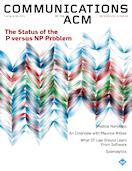 CACM Cover September 2009